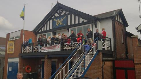 The Boat Club on match day.