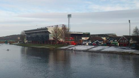The City Ground with The Boat  Club to the right of the picture.