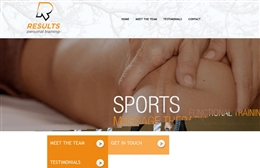 Results - Personal trainer website design by Toolkit Websites, professional web designers