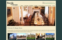 Burgie House - Holiday let website design by Toolkit Websites, Southampton