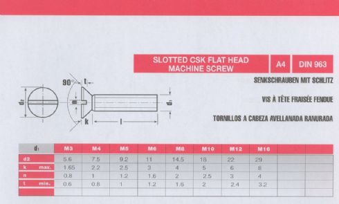 Pictures Of Nuts And Bolts >> 403-M8 X 45 - SLT CSK M/SCREW BS4183 A4 : The Stainless Steel Centre