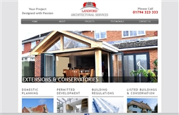 Landford Architectural - Architects website design by Toolkit Websites, Southampton