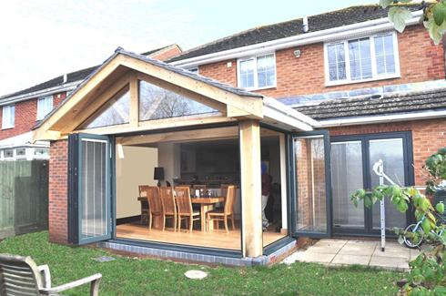 Exterior view for Garden rooms extensions designs