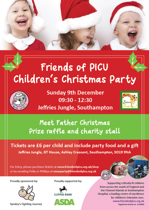 Friends of PICU Southampton Children's Christmas party