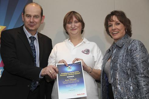 Rosie Mitchell with her Daily Echo Hospital Hero Award for Reader's Choice!
