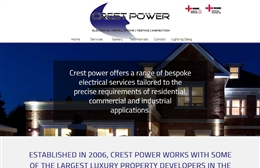 Crest Power - Electricians website design by Toolkit Websites, professional web designers