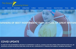 Dolphin Swim School - Tennis club website design by Toolkit Websites, professional web designers