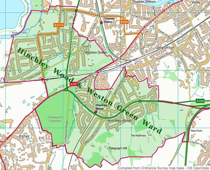 Hinchley Wood and Weston Green Ward