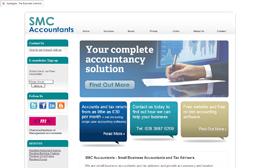 SMC - Accountants website design by Toolkit Websites, Southampton