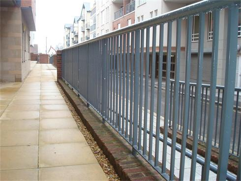 UK national construction company commissions A1 to finish railings, Juliet balcony and stair fittings from steel to galvanised products.
