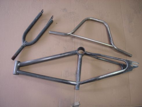 This is a new bike frame before going through our system