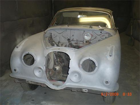 Jag body shell blasted
