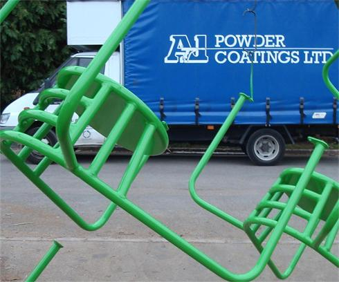 Playground equipment powder coated in our long life spec