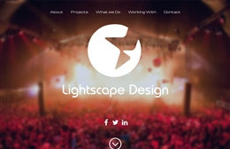 Lightscape Design - 1-page website design by Toolkit Websites, Southampton