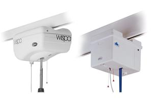 Fire retardant ABS enclosures to cover hoist motors used in hospitals.