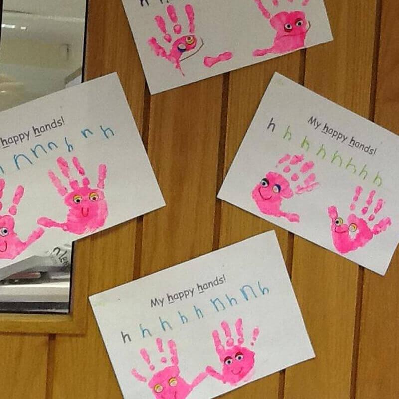 hand print paintings