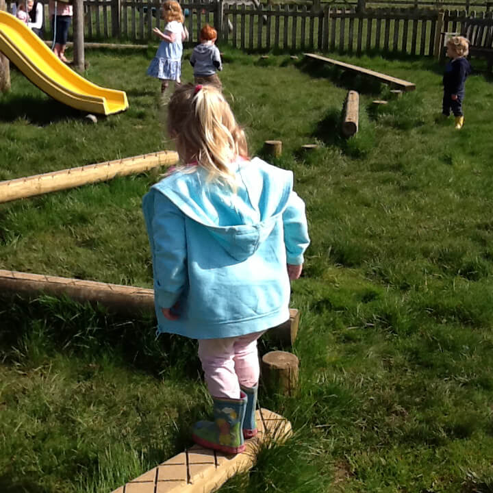 nursery children playing in playground
