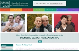 Albany Trust - Counselling website design by Toolkit Websites, professional web designers