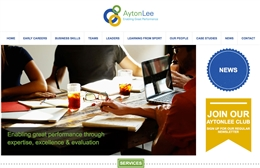 Ayton Lee - website design by Toolkit Websites, Southampton
