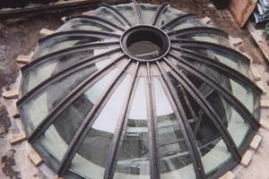 Lead Detail to Glass Skylight