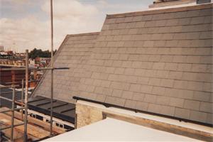 Brazilian Slate and Lead with Asphalt Roof