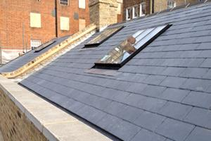Welsh Slate and lead gutters