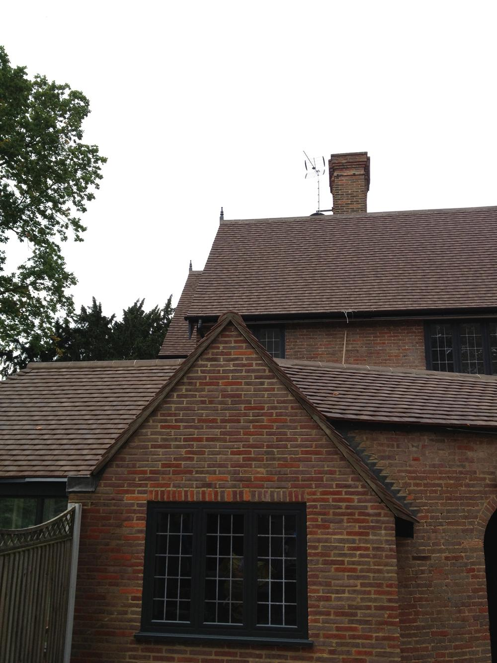 Clay Roof Tiles Harmonising With Victorian Brickwork