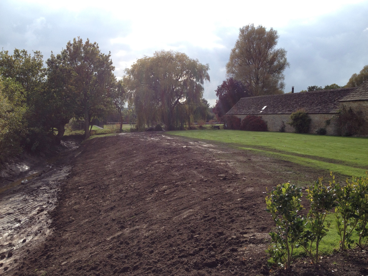 Restoration of Moat project in Wiltshire