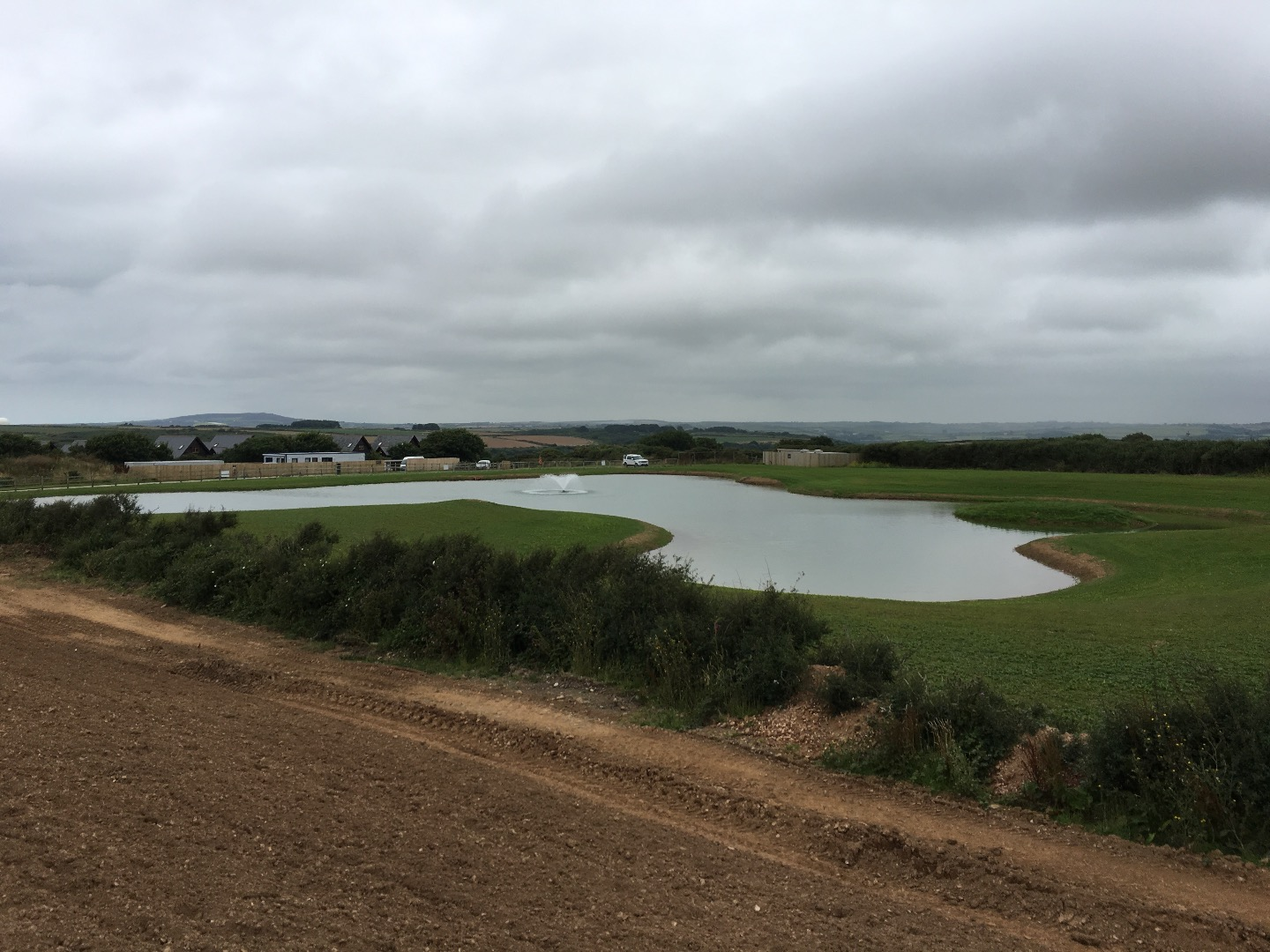Large Lake constructed in Cornwall with HDPE Liner
