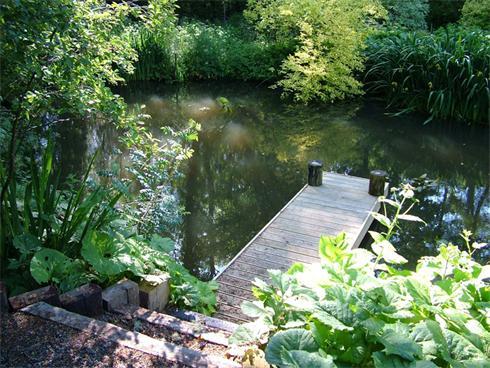 Small deck feature on Pond in Devon