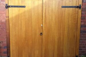 Hardwood Garage Door