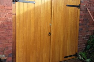 Hardwood Garage Door