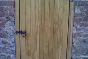 Oak door and frame