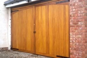 Hardwood Garage Doors