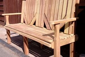 Bespoke hardwood bench
