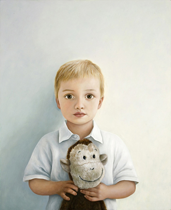 Boy with Monkey, 2007 oil on board, 78cm x 63cm © Copyright 2010 Nicola Green