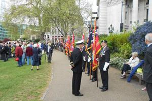 Colour party at the Battle of the Atlantic Memorial Service in London