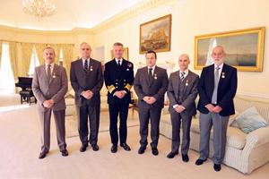 Merchant Navy Medal Recipients with the Governor of Gibraltar