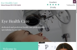 Eye Health Care - Medical training website design by Toolkit Websites, professional web designers