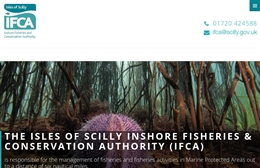Scilly IFCA - website design by Toolkit Websites, Southampton
