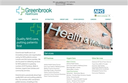 Greenbrook Healthcare - Medical web design by Toolkit Websites, Southampton