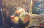 From Heathcote's Tree. Oil on linen board. 7 x 9.5in