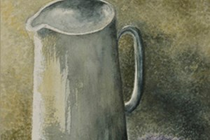 Jug by lavender. Watercolour on paper 9in x 7in