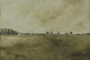 Port Meadow 2. Watercolour on paper 8in x 11in. Not for sale.