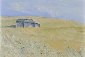 Barn, Dorset. Oil on canvas 5in x 7in. Not for sale.