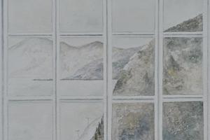 Window, Katounia, Greece. Watercolour on paper 7.5in x 9.5in
