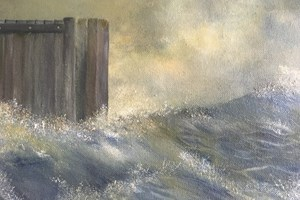Dorset storm. Oil on canvas, 10in x 12in