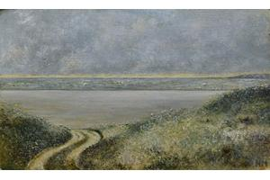 Evening, Camber Sands Oil on oil paper 6in x 10in