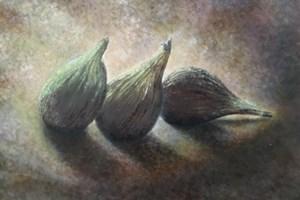 Fiona's figs. Oil on linen board. 18cm x 24cm.