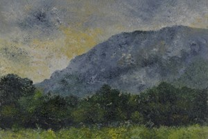 Mont Sainte-Victoire. Oil on board. 5in x 7in.